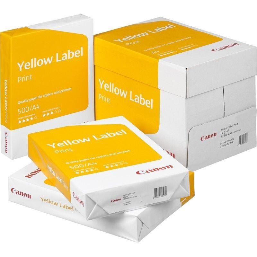 Papier ksero Canon Yellow Label A4 80g - Karton 5x ryza (2500 arkuszy) Matowy