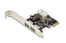 Kontroler USB 3.0 Digitus PCIe, 2x USB 3.0, Low Profile, Chipset UPD720202
