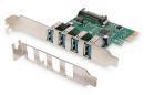 Kontroler USB 3.0 Digitus PCIe, 4x USB 3.0, Chipset VL805
