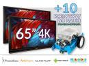 Zestaw interaktywny (Wariant 2) 2x Monitor interaktywny Promethean 65? 4K (+10 robotów)