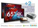 Zestaw interaktywny (Wariant 3) 2x Monitor interaktywny Promethean 65? 4K + 2x komputer OPS lub notebook