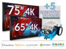 Zestaw interaktywny (Wariant 4) 1x Monitor Interaktywny Promethean 65? 4K + 1x Monitor Interaktywny Promethean 75? 4K (+5 robotów)