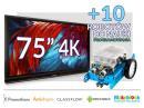 Zestaw interaktywny (Wariant 10) 1x Monitor Interaktywny Promethean 75? 4K +10 robotów