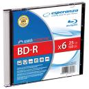 BD-R Esperanza 25GB x6 (Slim 1) BluRay