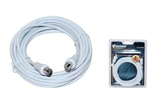 Kabel koncentryczny TV (antenowy) VAKOSS M/F 5m TC-A727W biały - MaxSklep