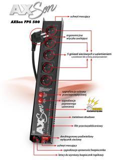 Listwa zasilająca Acar AXSon FPS 500 1,5m czarna