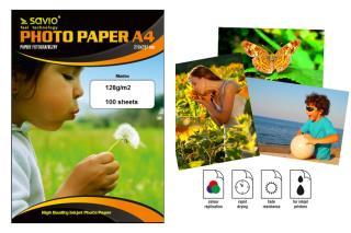 Papier fotograficzny SAVIO PA-11 A4 128g/m2 100 szt. mat - MaxSklep
