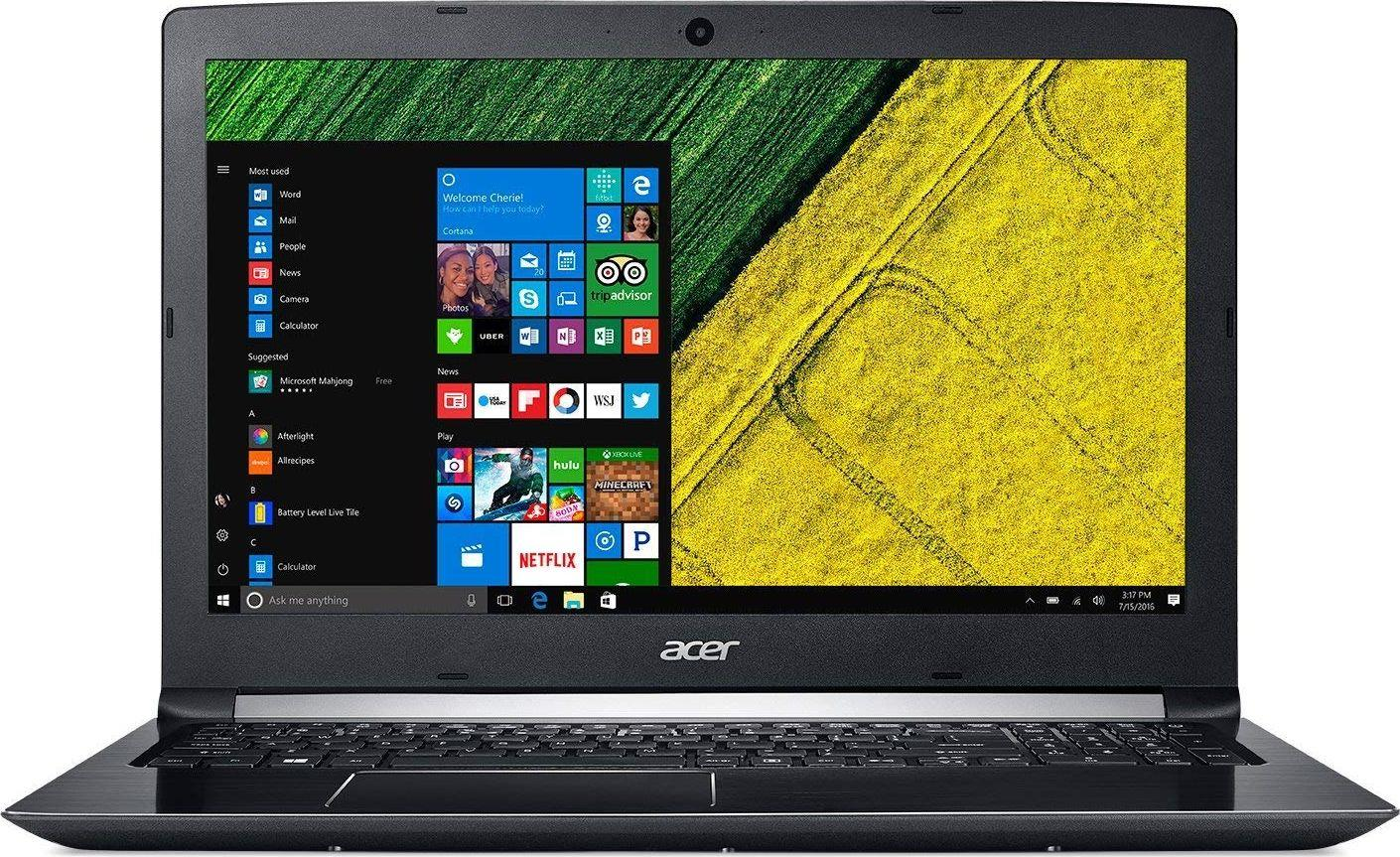 Notebook Acer Aspire 5 15.6 cal FHD Matt i5-8250U 8GB SSD256GB MX130-2GB W10 Black