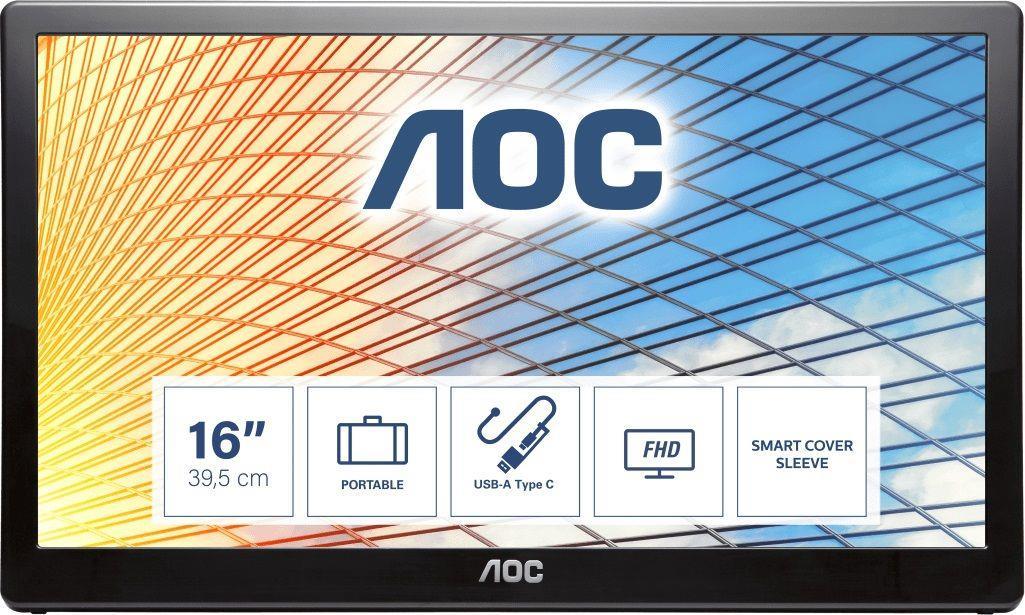 Monitor AOC 15,6 cal  AOC E1659FWU USB 3.0