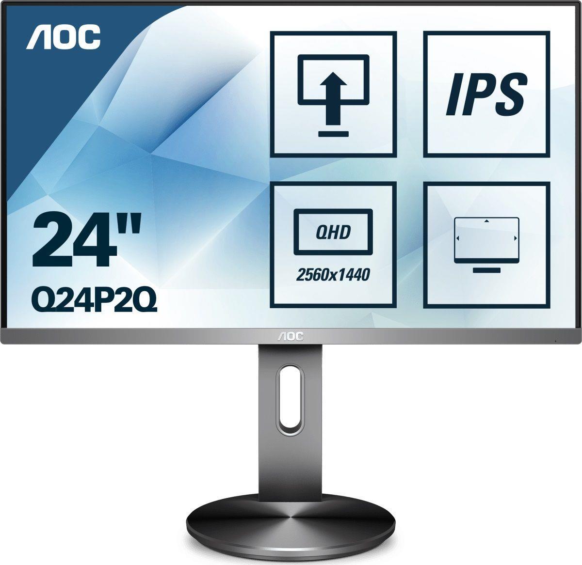 Monitor AOC 23,8 cal  Q24P2Q VGA HDMI DP 4xUSB 3.1 głośniki