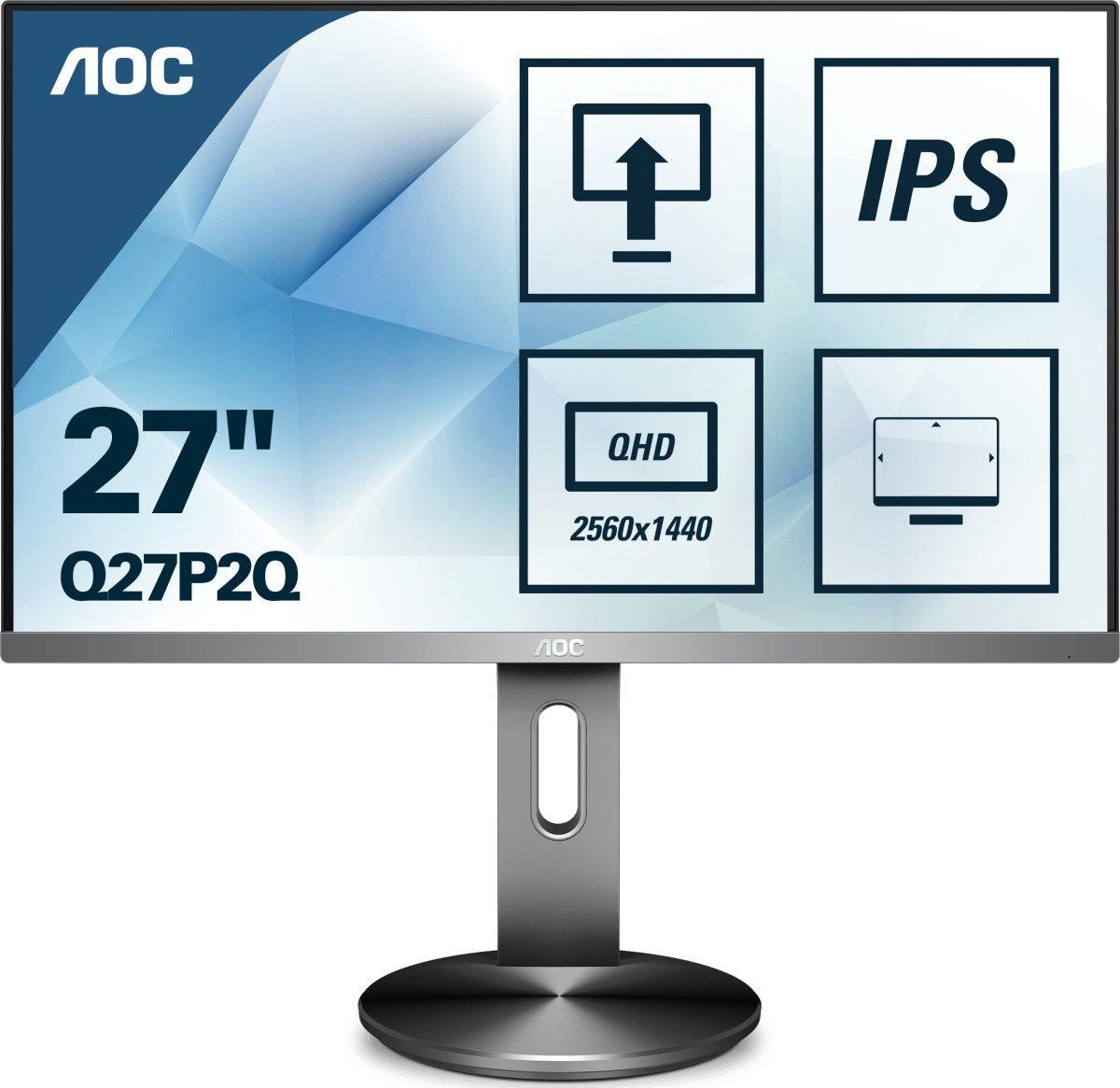 Monitor AOC 27 cal  Q27P2Q VGA DVI HDMI DP 4xUSB 3.1 głośniki