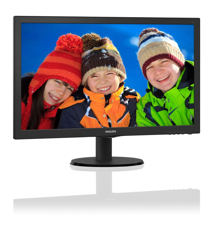 Monitor Philips 23,6 cal  243V5LSB 00 VGA DVI