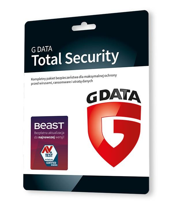 G DATA TOTAL SECURITY 3PC 1 ROK KARTA-KLUCZ