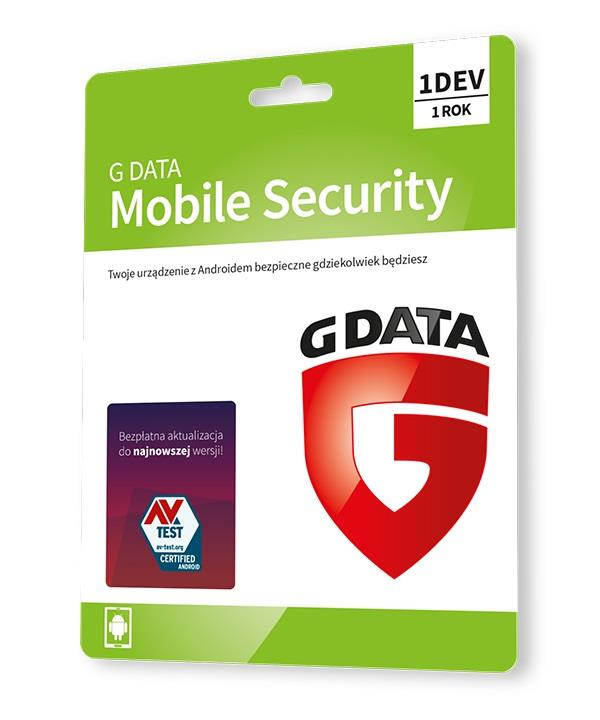 G DATA MOBILE INTERNET SECURITY 1DEV 1 ROK KARTA-KLUCZ