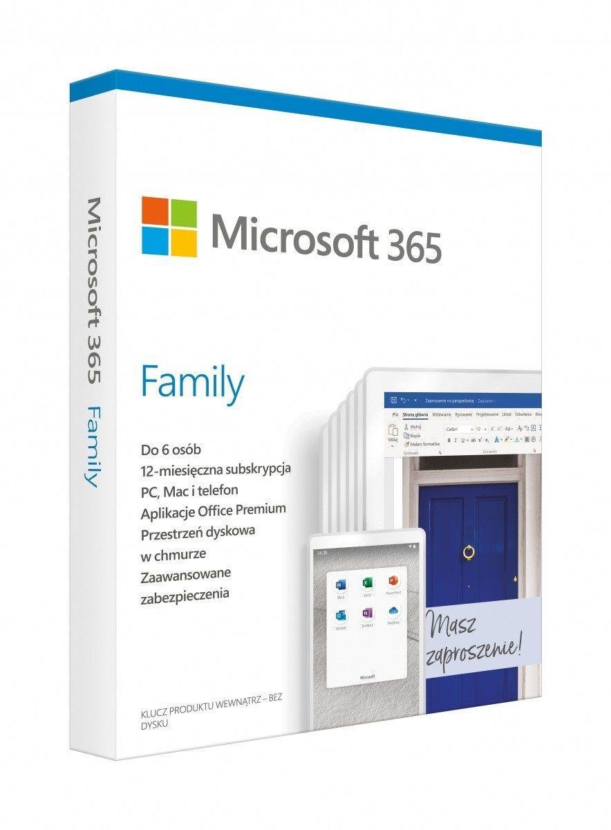 Oprogramowanie Microsoft 365 Family PL P6 1Y Win Mac