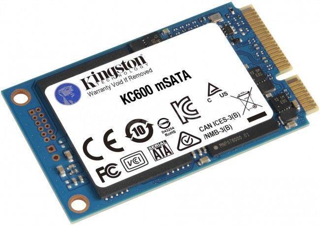 Dysk SSD Kingston KC600 256GB MSATA3 2,5 cal  (550 500 MB s) NAND 3D TLC