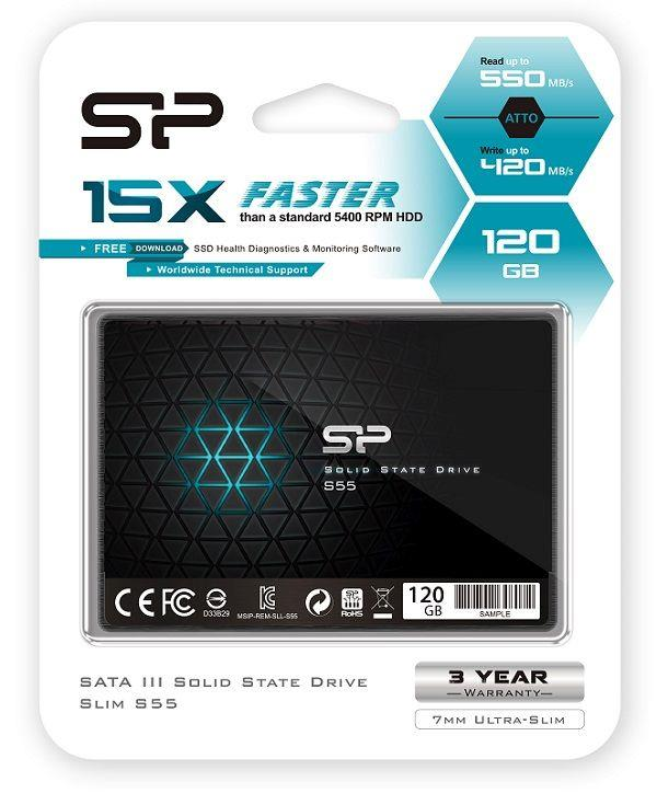 Dysk SSD Silicon Power S55 120GB 2.5 cal  SATA3 (550 420) 7mm