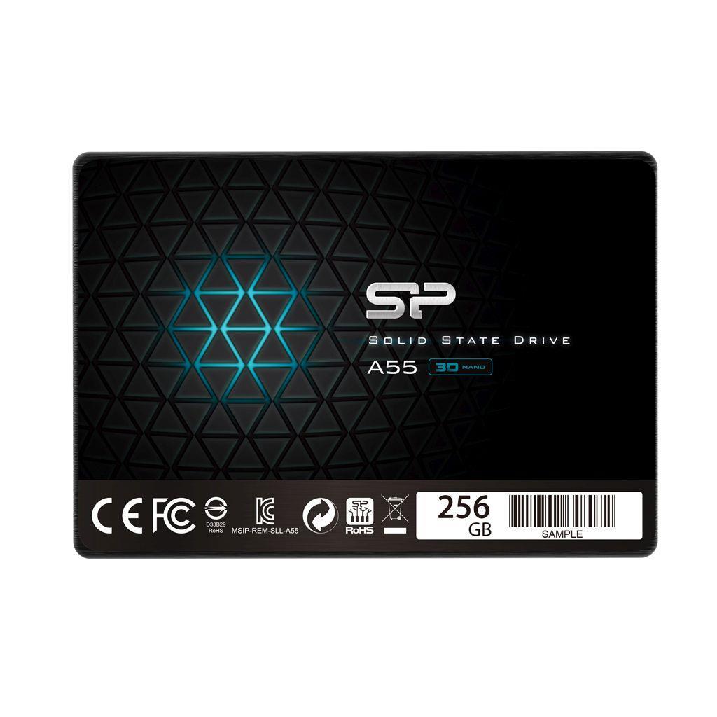 Dysk SSD Silicon Power A55 256GB 2.5 cal  SATA3 (550 450) 3D NAND, 7mm BULK