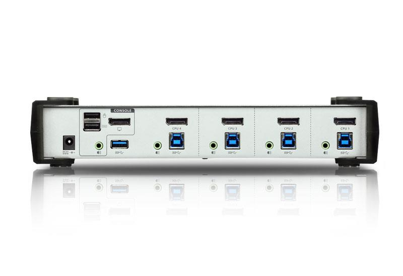 Przełącznik KVM ATEN Display Port/USB 3.0/Audio CS1914 (CS1914-AT-G) 4-port.