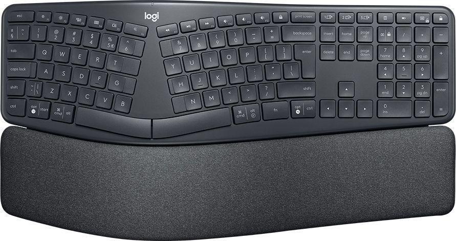 Klawiatura bezprzewodowa Logitech ERGO K860 czarna ergonomiczna