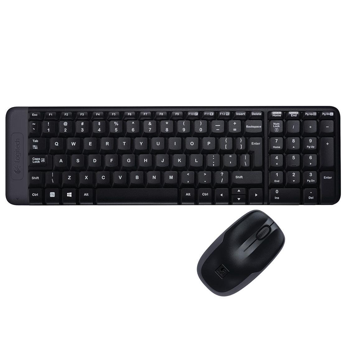 Zestaw bezprzewodowy klawiatura + mysz Logitech MK220 czarny (1)