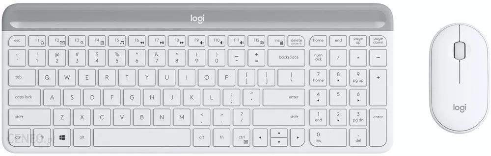 Zestaw bezprzewodowy klawiatura + mysz Logitech MK470 Slim Combo biały