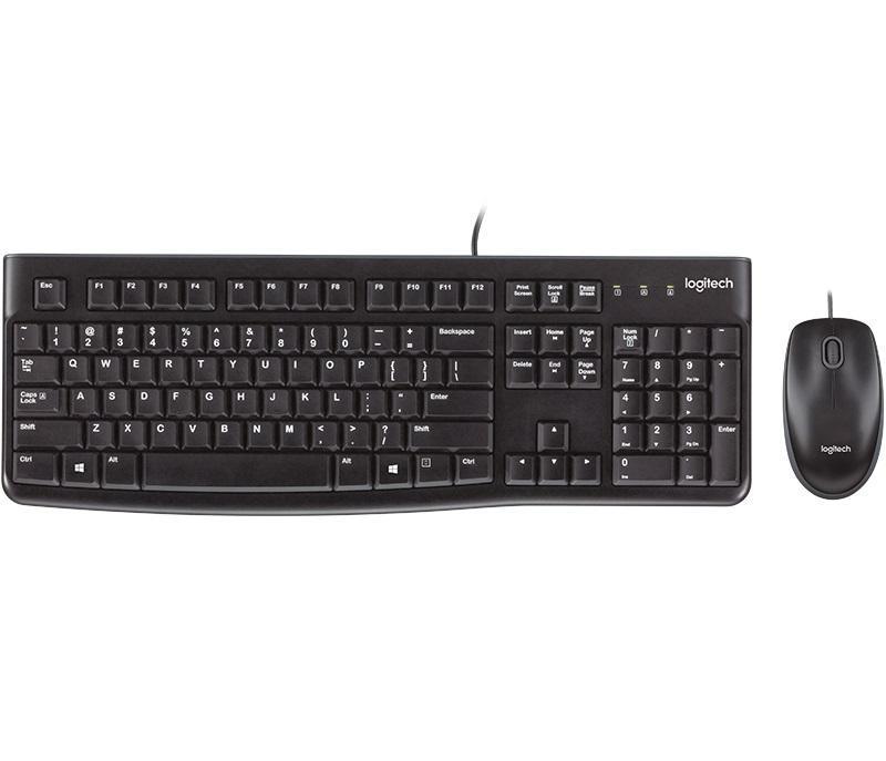 Zestaw klawiatura+mysz Logitech Desktop MK120 USB czarny układ niemiecki