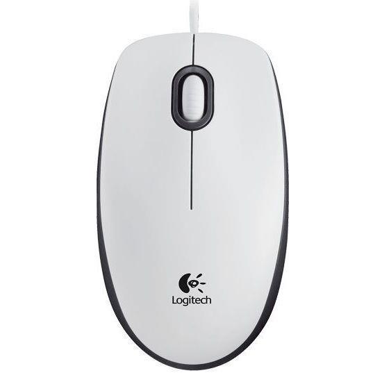 Mysz przewodowa Logitech M100 optyczna biało-czarna